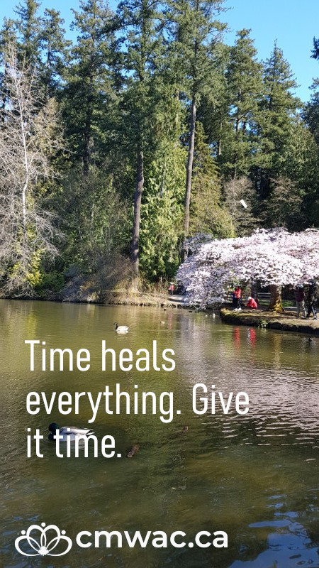 Time heals everything. Give it time.
